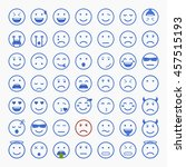 set of emoticons  emoji and... | Shutterstock .eps vector #457515193