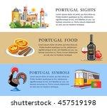 portugal horizontal info banners   Shutterstock .eps vector #457519198