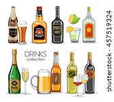 alcoholic drinks collection | Shutterstock .eps vector #457519324