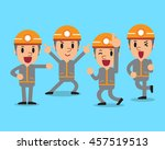 cartoon technician character... | Shutterstock .eps vector #457519513
