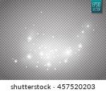 glow light effect. vector... | Shutterstock .eps vector #457520203