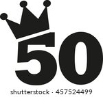 50th birthday number crown | Shutterstock .eps vector #457524499