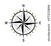 isolated vector compass. vector ... | Shutterstock .eps vector #457525846