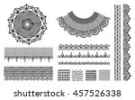 a set of knitted items  crochet ... | Shutterstock .eps vector #457526338