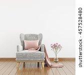 neutral interior with velvet... | Shutterstock . vector #457528480