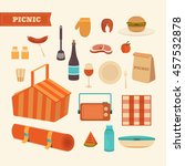 vector set of summer picnic.... | Shutterstock .eps vector #457532878