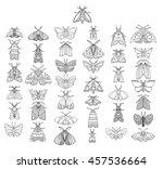 stylized butterflies. set... | Shutterstock .eps vector #457536664