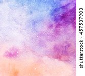 watercolor colorful starry... | Shutterstock . vector #457537903