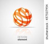 sphere logo design template   Shutterstock .eps vector #457537954