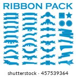 big set of embroidered blue... | Shutterstock .eps vector #457539364