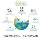 ecology infographic vector... | Shutterstock .eps vector #457539988