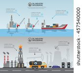 oil industry processing and... | Shutterstock .eps vector #457540000