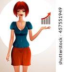 attractive coquette lady...   Shutterstock . vector #457551949