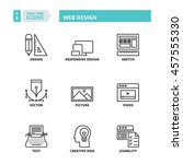flat symbols about web design.... | Shutterstock .eps vector #457555330