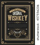 whiskey label with old frames | Shutterstock .eps vector #457556236