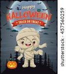 vintage halloween poster design ...   Shutterstock .eps vector #457560259