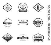 set of vintage logo and badge.... | Shutterstock .eps vector #457560703