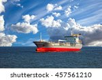oil tanker ship at sea on a... | Shutterstock . vector #457561210