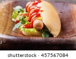 home made hot dogs with...