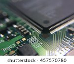 pcb detail with microchip | Shutterstock . vector #457570780