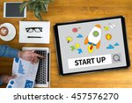 start up ideas businessman... | Shutterstock . vector #457576270