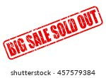big sale sold out stamp text on ... | Shutterstock .eps vector #457579384