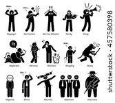 negative personalities... | Shutterstock . vector #457580398