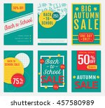 back to school and autumn... | Shutterstock .eps vector #457580989