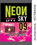 neon sky  t shirt graphics... | Shutterstock .eps vector #457584334