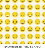 smiley face seamless pattern  ... | Shutterstock .eps vector #457587790