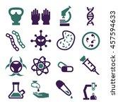 biohazard  toxic icon set | Shutterstock .eps vector #457594633