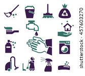 clean icon set | Shutterstock .eps vector #457603270