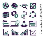 data analysis  information ... | Shutterstock .eps vector #457603396