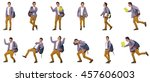 collage of student with... | Shutterstock . vector #457606003
