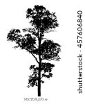 Vector Of Tree Silhouettes