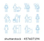 people icons  manual work... | Shutterstock .eps vector #457607194