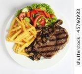 A Grilled Ribeye Steak Served...