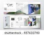 set of tri fold brochures ... | Shutterstock .eps vector #457610740