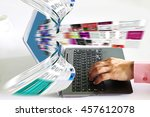 internet streaming images as...   Shutterstock . vector #457612078