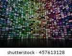 giant multimedia video and... | Shutterstock . vector #457613128