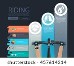 bike infographic banner design... | Shutterstock .eps vector #457614214