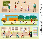 back to school concept. set of...   Shutterstock .eps vector #457614649