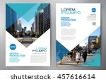 business brochure flyer design... | Shutterstock .eps vector #457616614