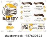 bakery menu design and bakery... | Shutterstock .eps vector #457630528