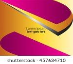 purple line curve on black... | Shutterstock .eps vector #457634710