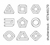 impossible shapes  optical... | Shutterstock .eps vector #457640170