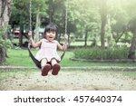 child asian girl having fun to... | Shutterstock . vector #457640374