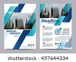 blue brochure layout design... | Shutterstock .eps vector #457644334