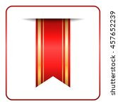 red and gold bookmark banner.... | Shutterstock .eps vector #457652239