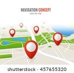 navigation concept road city... | Shutterstock .eps vector #457655320